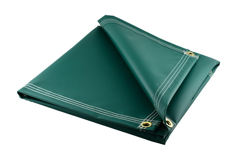 Green Vinyl w// Reinforced Edges Heavy Duty 18 Oz Waterproof Tarp